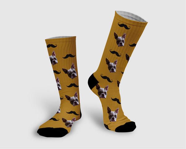 Mustache Collection Socks - Pawpular Design