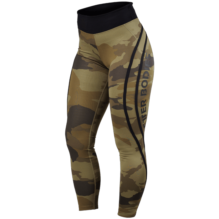 Camo High Tights - Dark Green Camo