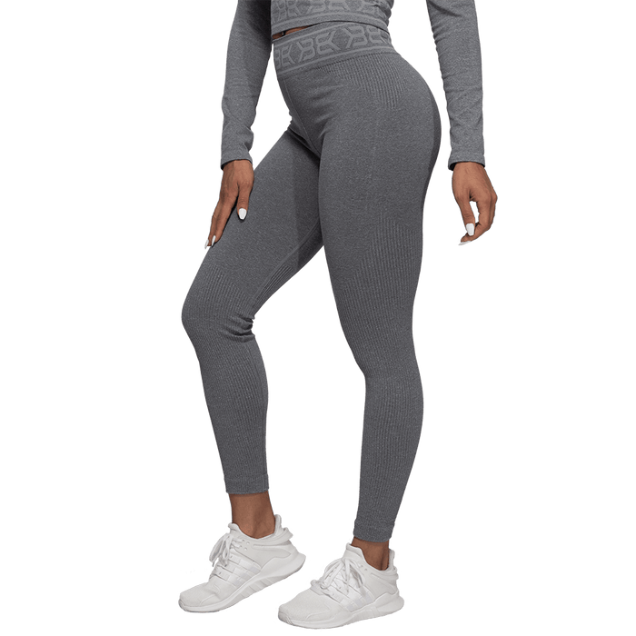 Rib Seamless Leggings - Grey Melange