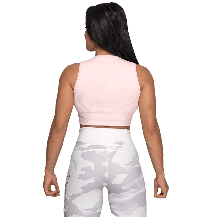 Rib Seamless Top -  Pale Pink Melange
