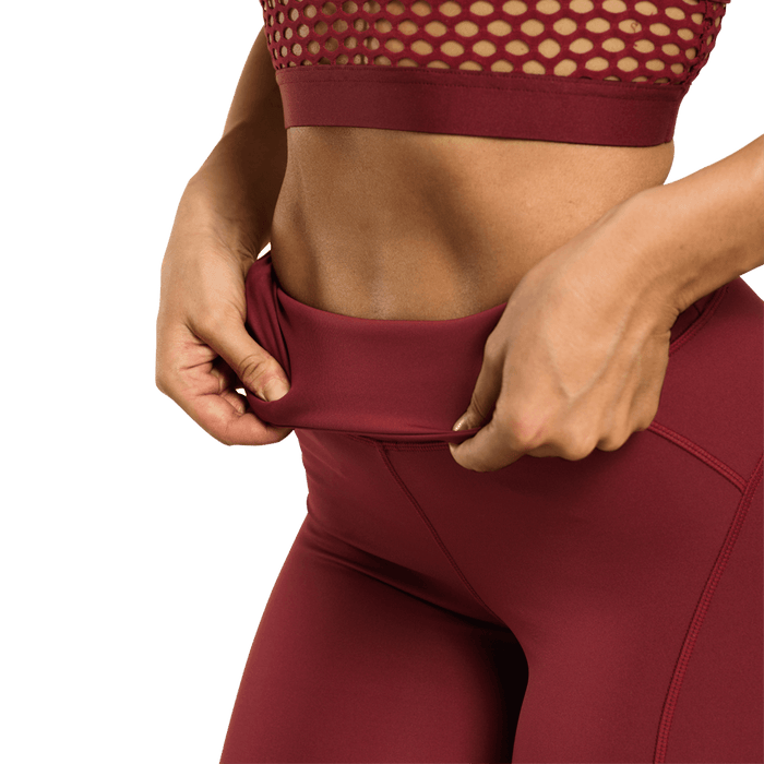 Waverly Mesh Tights - Sangria Red