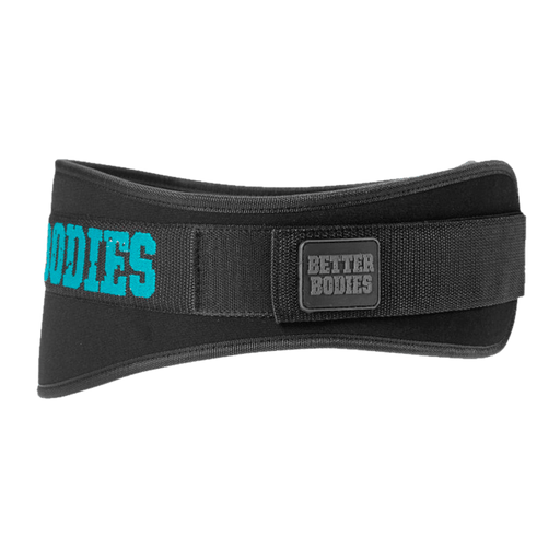 Womens Gym Belt - Black/Aqua