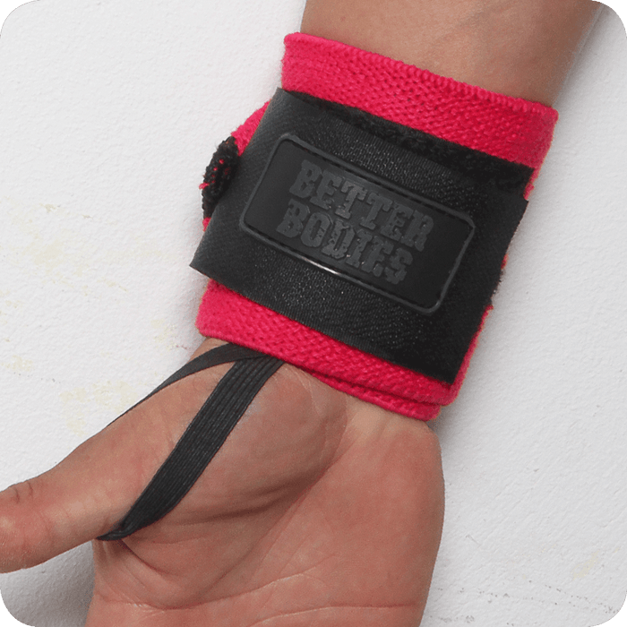 Womens Wrist Wraps - Hot Pink