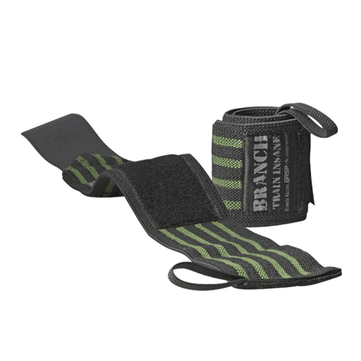 "Branch 18"" Wrist Wraps – Black/Green"