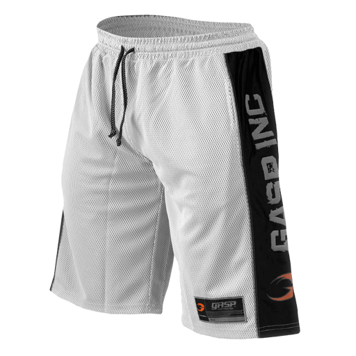 No1 Mesh Shorts - White/Black
