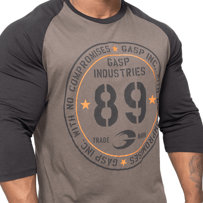 Raglan Baseball Tee - Dark Grey