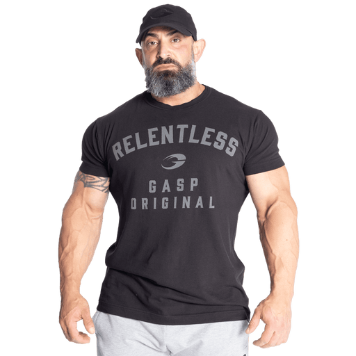 Relentless Skull Tee - Washed Black