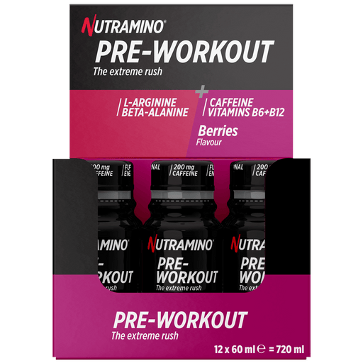 Pre-Workout Shot Berries - 12x60ml.