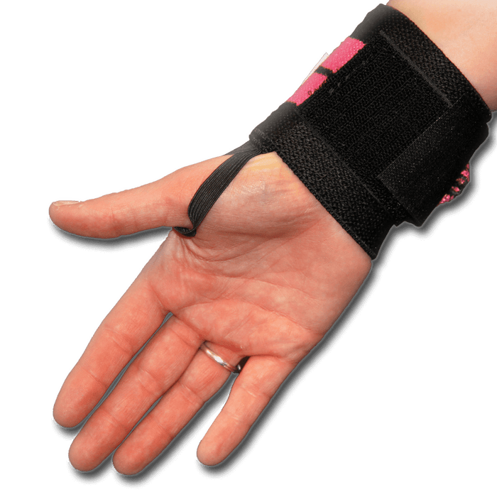 12 Inch Heavy Duty Wrist Wraps - Pink