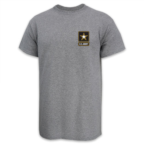 Army Star Logo USA Made T-Shirt (Grey)
