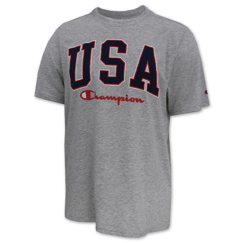 USA Champion Men's Field Day T-Shirt (Grey)