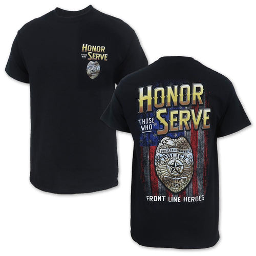 Honor Those Who Serve Police T-Shirt (Black)