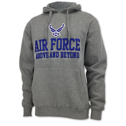 AIR FORCE ABOVE AND BEYOND FLEECE HOOD (GREY)