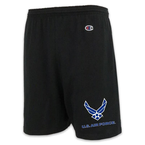 AIR FORCE CHAMPION WINGS LOGO COTTON SHORT (BLACK)