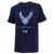 AIR FORCE WINGS YOUTH UNDER ARMOUR PERFORMANCE COTTON T-SHIRT (NAVY)