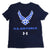 AIR FORCE WINGS YOUTH UNDER ARMOUR PERFORMANCE COTTON T-SHIRT (NAVY) 1