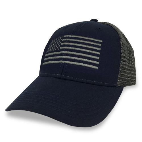 FLAG LO PRO SNAPBACK TRUCKER HAT (NAVY) 5