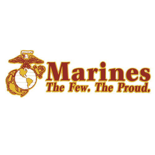 MARINES THE FEW, THE PROUD DECAL 1