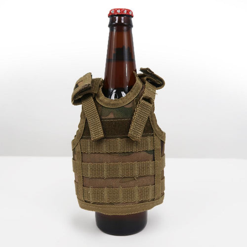 MINI TACTICAL VEST BOTTLE KOOZIE (MULTICAM)