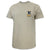 NAVY LACROSSE LOGO T-SHIRT (TAN)