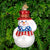 PATRIOTIC SNOWMAN ORNAMENT 2