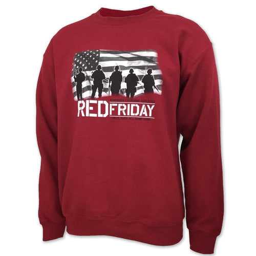 RED FRIDAY USA FLAG CREWNECK (CARDINAL) 1