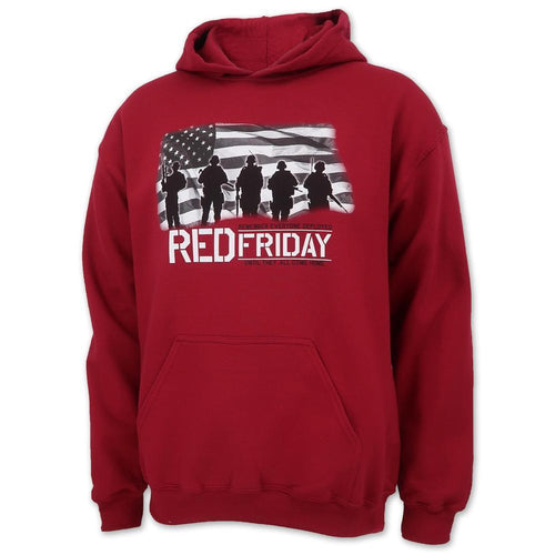 RED FRIDAY USA FLAG HOOD (CARDINAL)