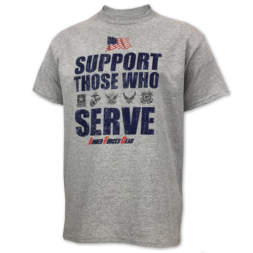 SUPPORT THOSE WHO SERVE T-SHIRT (GREY) 1