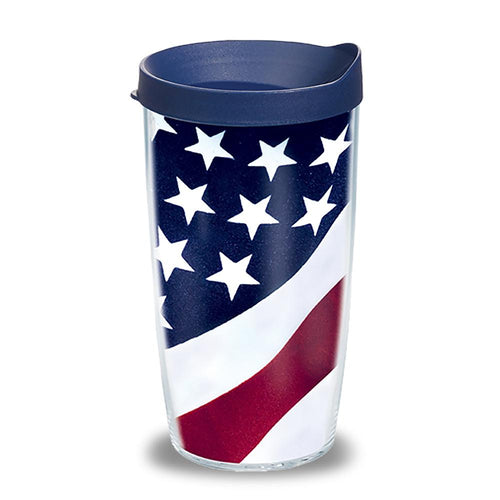 TERVIS US FLAG 16 OZ WRAP  LID TUMBLER 1