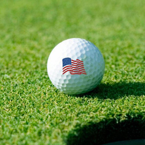 WAVING FLAG GOLF BALL