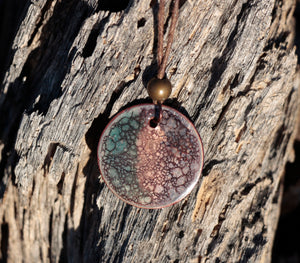 Abstract Full Moon Pendant