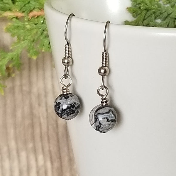 Crazy Lace Agate Earrings