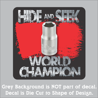 10MM Hide & Seek Champion Hi-Performance Decal (4