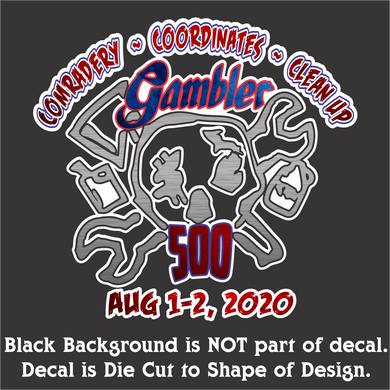 Gambler Aug 1-2, 2020  Decal (5