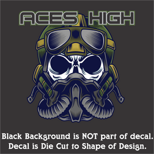 "Aces High Decal (4""x4"", 6""x6"", & 10""x10"")"