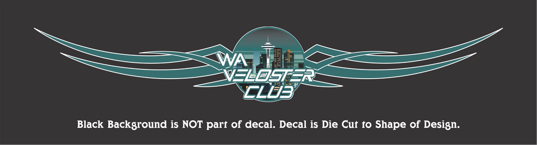 Official WA Veloster Club Banner Decals - 4 Sizes