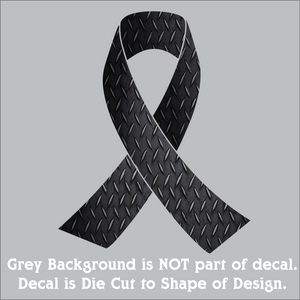 "Awareness Ribbons - Hi-Performance Vinyl Decal (6""x4.75"") 15 Colors"