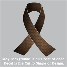 "Load image into Gallery viewer, Awareness Ribbons - Hi-Performance Vinyl Decal (6""x4.75"") 15 Colors"