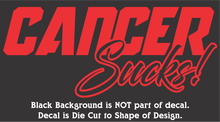 "Load image into Gallery viewer, Cancer Sucks! - Hi-Performance Vinyl Decal (8""x3"") 15 Colors"