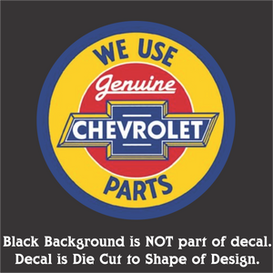 "Chevy Parts Decal (4""x4"", 6""x6"", & 10""x10"")"