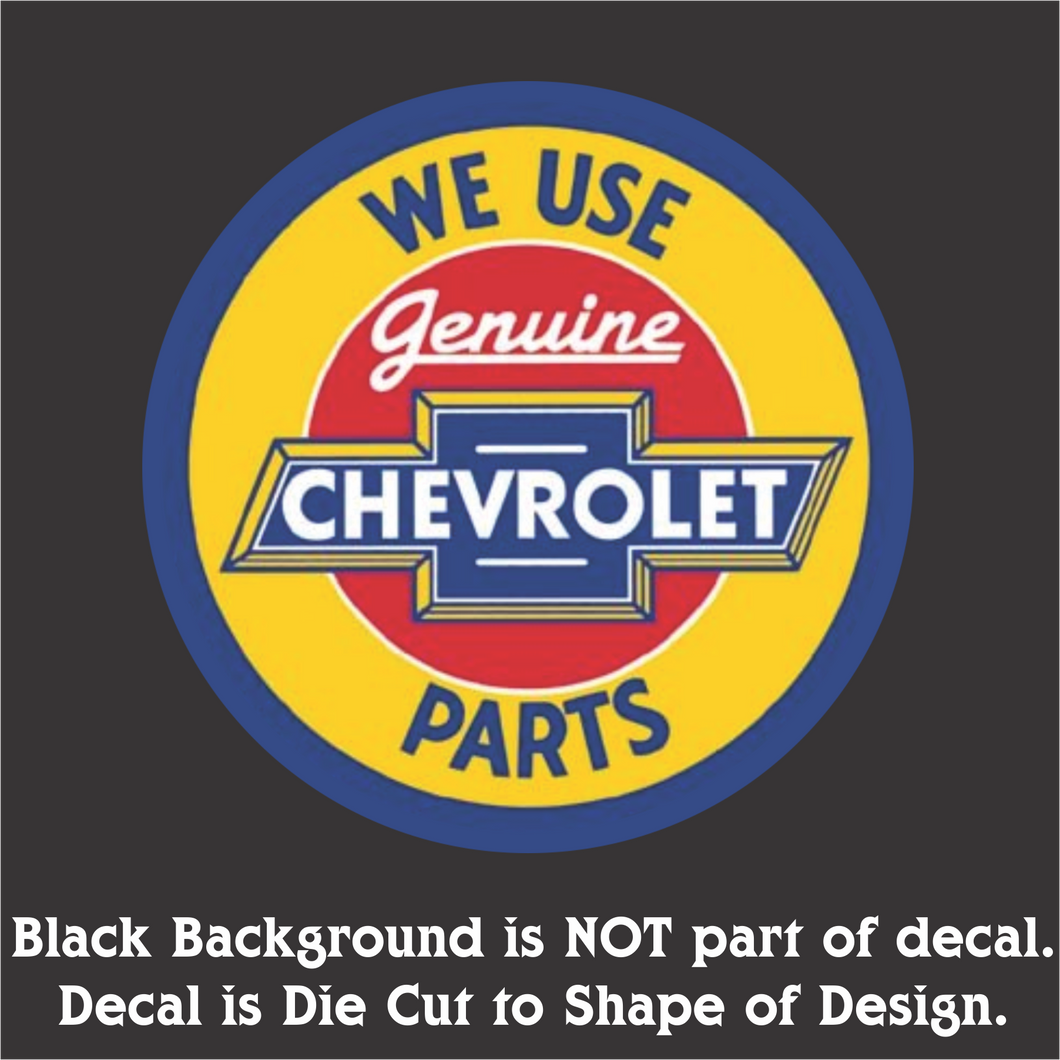 Chevy Parts Decal (4
