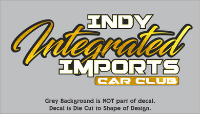 Indy Integrated Imports Car Club Decals (13 Color)