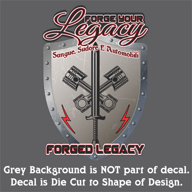 Forged Legacy Decal (4 Sizes)
