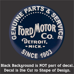 "Ford Parts Decal (4""x4"", 6""x6"", & 10""x10"")"