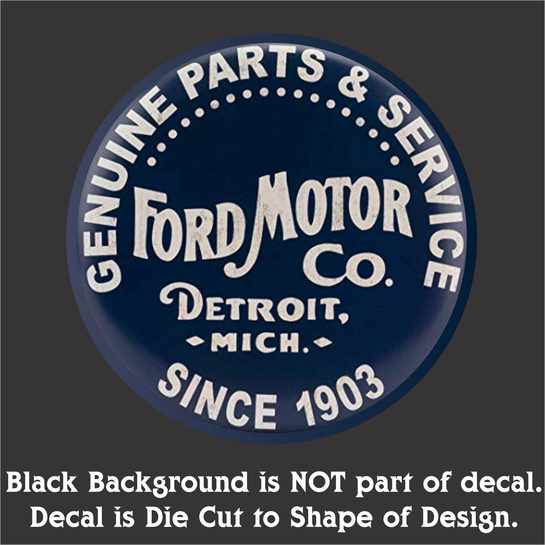 Ford Parts Decal (4