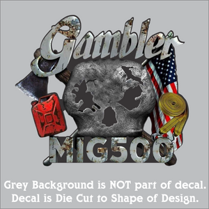 "Gambler 500 Full color Hi-Performance Decal (4""x4"", 6""x6"", & 10""x10"")"
