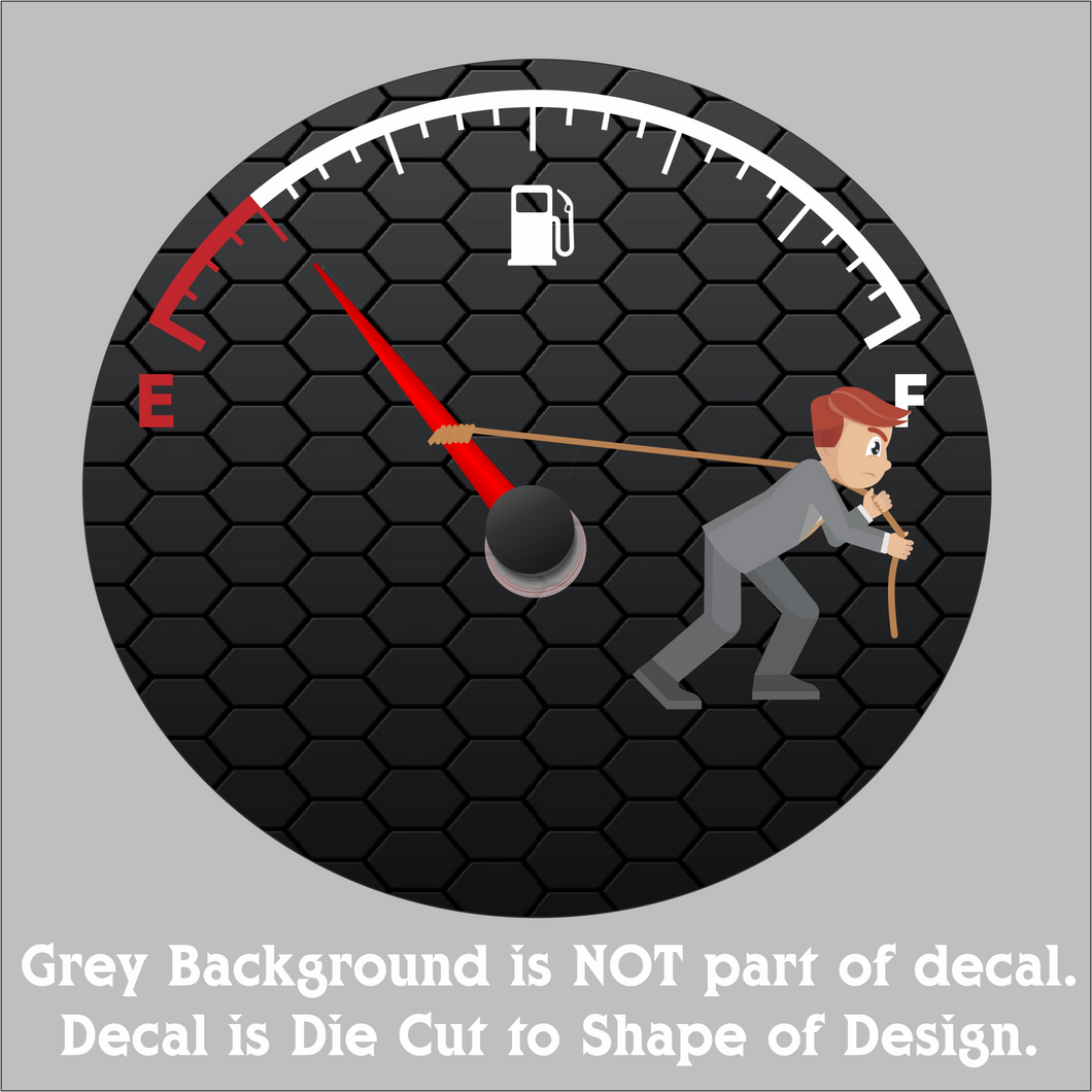 Gas Vs. Man Decal (4
