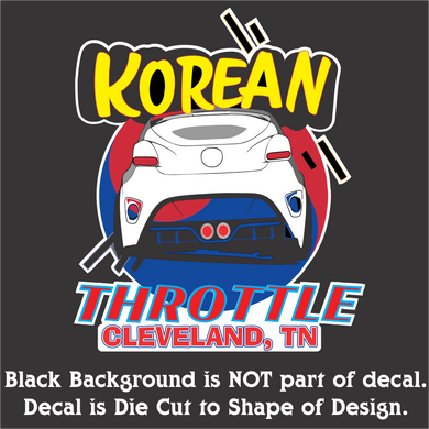 Korean Throttle Decal (4