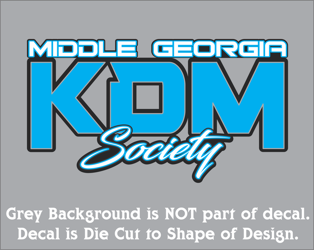 Middle Georgia KDM Society Decal (3 Sizes - 8 Colors)
