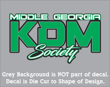 Load image into Gallery viewer, Middle Georgia KDM Society Decal (3 Sizes - 8 Colors)